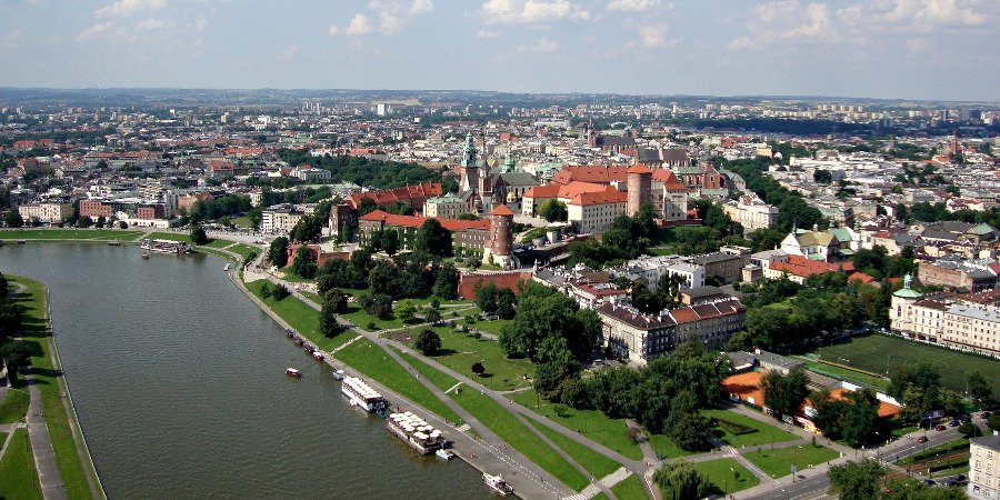 Panorama su Cracovia